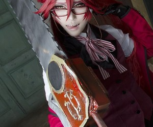 black butler, cosplay, and grell image