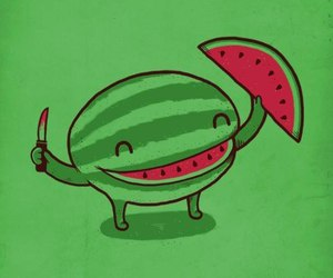 watermelon, smile, and green image