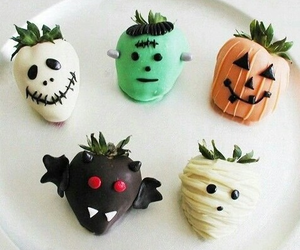 Halloween, strawberry, and food image