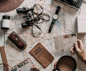 map, photography, and coffee image