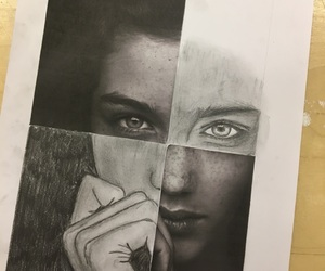 black, creative, and drawing image