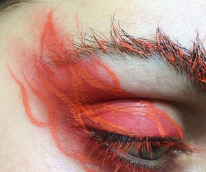 flame, makeup, and red image