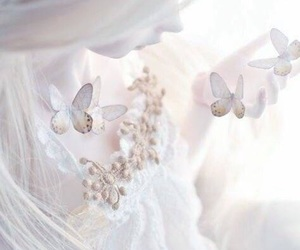 butterfly, white, and doll image