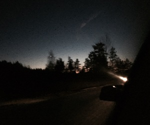 car, Darkness, and driving image