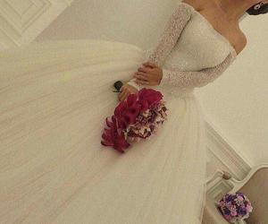 girl, wedding, and beauty image