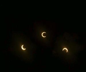 black, moon, and header image