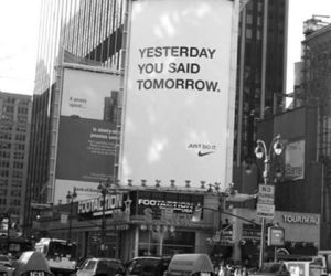 nike, quotes, and tomorrow image