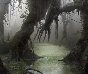 creepy, misty, and spooky image