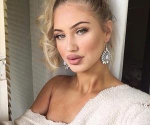 girl, makeup, and cute image