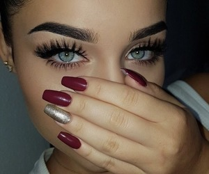 eyes, beauty, and nails image