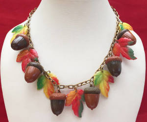 etsy, vintage jewelry, and autumn leaf image