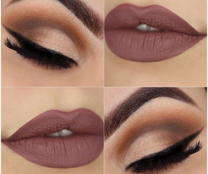 eyes, makeup, and Nude image