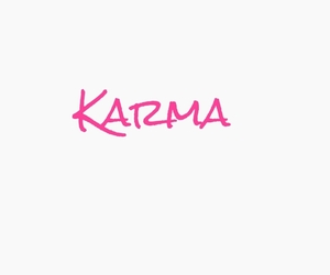 karma, pink, and quote image