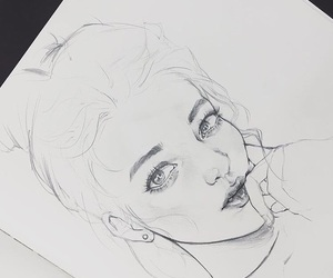 art, girl, and simple image