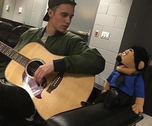 justin bieber, guitar, and selena gomez image