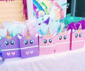 unicorn, birthday, and party image
