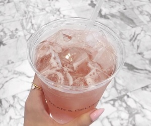 drink, pink, and nails image