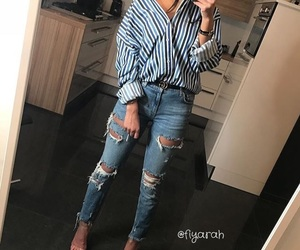 clothes, heels, and ootd image