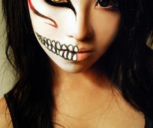 dia de muertos, halloween costumes, and facial art image