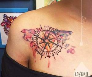 color, compass, and travel image