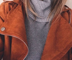 fashion, jacket, and sweater image
