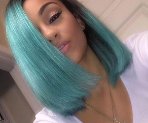 blue, hairstyles, and @ugotthelook91 image