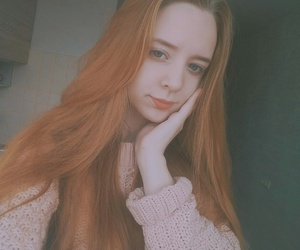 ginger, girl, and pink image
