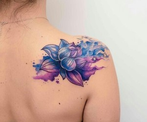 art, flower, and tattoo image