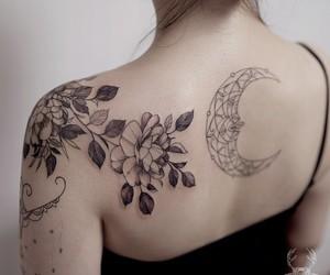 elegance, girl, and tattoo image