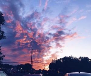 beautiful, sky, and pink image