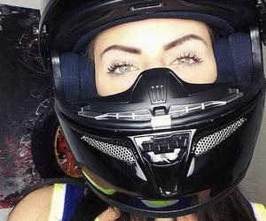 bike, biker girl, and black is beautiful image