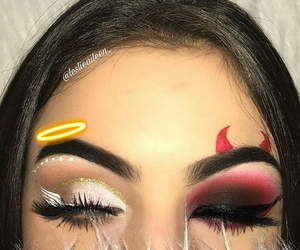 makeup, angel, and Halloween image