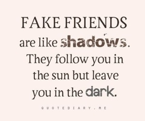 friends, shadow, and quotes image