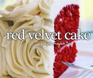 Red velvet cake, cake, and yummy image