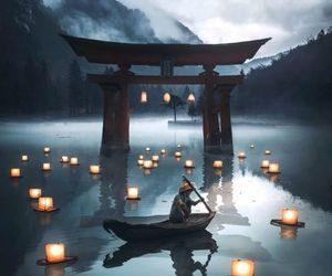 japan, light, and nature image