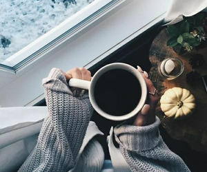coffee, winter, and autumn image
