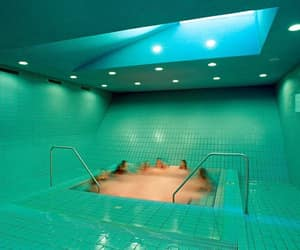 design, green, and swimming pool image