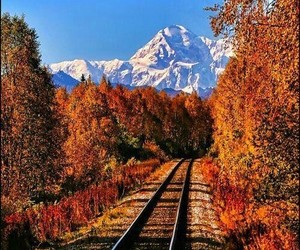 autumn, mountains, and alaska image