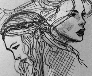 drawing, elf, and girls image