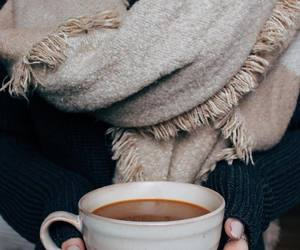 coffee, fall, and scarf image