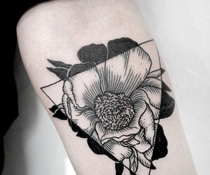 aesthetic, flowers, and tattoo image