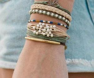 autumn, girl, and bracelets image