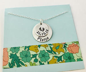 date, new mommy, and mom necklace image