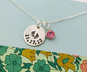 date, mom necklace, and etsy image