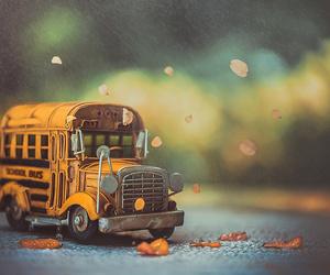 autumn, bokeh, and bus image