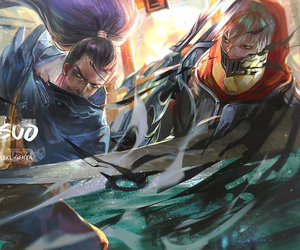 zed, league of legends, and yasuo image