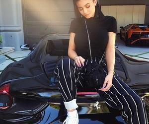 black, car, and girl image