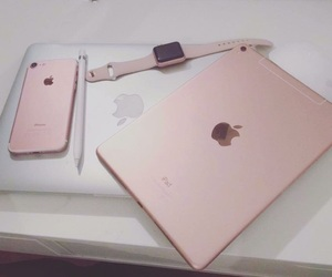 macbookpro, rosegold, and applewatch image