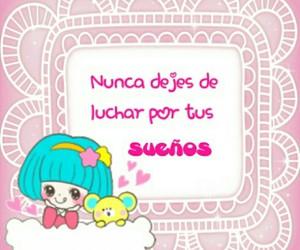 frases en español, dibujos animados, and rosa y blanco image