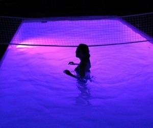 purple, pool, and aesthetic image